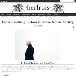 Et Spøgelse: Berfrois Interviews Simon Critchley