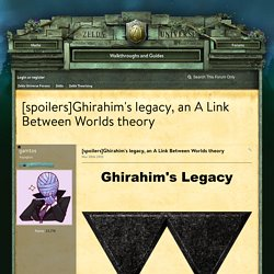 [spoilers]Ghirahim's legacy, an A Link Between Worlds theory - Zelda Theorizing - Zelda Universe Forums