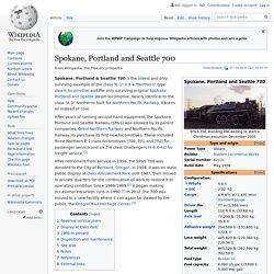 Wiki: Spokane, Portland, and Seattle 700