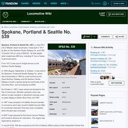 Spokane, Portland & Seattle No. 539