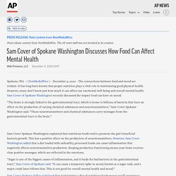 Sam Cover of Spokane Washington Discusses How Food Can Affect Mental Health