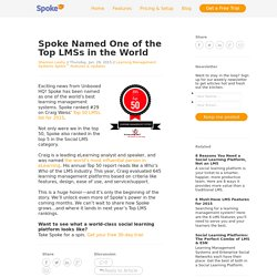 Spoke Named One of the Top LMSs in the World
