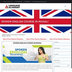 Best English Speaking Course in Mohali