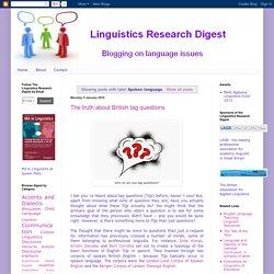 Linguistics Research Digest: Spoken language
