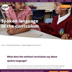 Spoken language in the curriculum