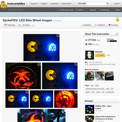 SpokePOV: LED Bike Wheel Images