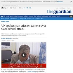 UN spokesman cries on camera over Gaza school attack