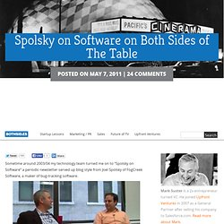 Spolsky on Software on Both Sides of The Table