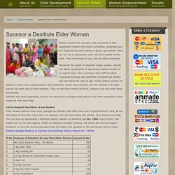 Donate for Food Groceries to Poor Older People