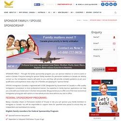 Sponsor Family – Canada Sponsorship - Family Class Sponsorship