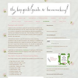 Sponsor - Hip Girl's Guide to Homemaking