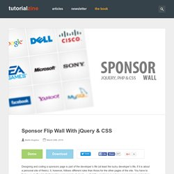 Sponsor Flip Wall With jQuery & CSS – Tutorialzine