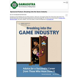 Sponsored Feature: Breaking Into the Game Industry