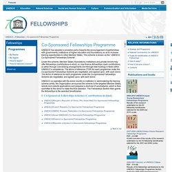 Co-sponsored Fellowships Programme
