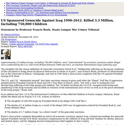 US Sponsored Genocide Against Iraq 1990-2012. Killed 3.3 Million, Including 750,000 Children