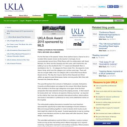 Book Award 2015 sponsored by MLS - UKLA : The UK Literacy Association