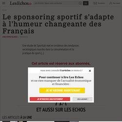 Le sponsoring sportif s'adapte àl'humeur changeante des Français - Les Echos