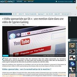 « Vidéo sponsorisée par EA » : une mention claire dans une vidéo de Cyprien Gaming