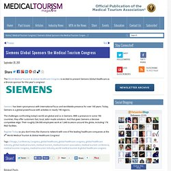 Siemens Global Sponsors the Medical Tourism Congress