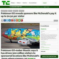 Pokémon GO reveals sponsors like McDonald's pay it up to $0.50 per visitor