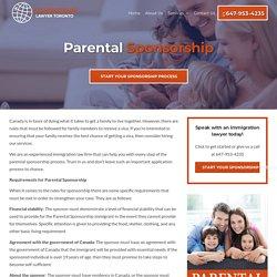Parents and Grandparents - Sponsorship Laywer Toronto