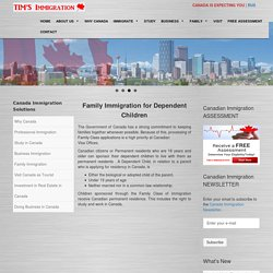 Canada Dependent Child Sponsorship Immigration Program