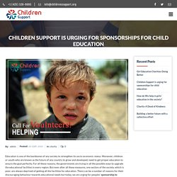 Join Sponsorship to Promote Child Education