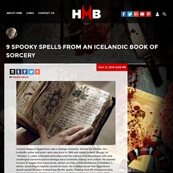 9 Spooky Spells from an Icelandic Book of Sorcery : THE HORROR MOVIES BLOG