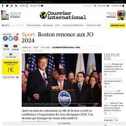 Sport. Boston renonce aux JO 2024
