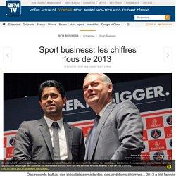 Sport business: les chiffres fous de 2013