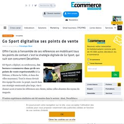 Go Sport digitalise ses points de vente