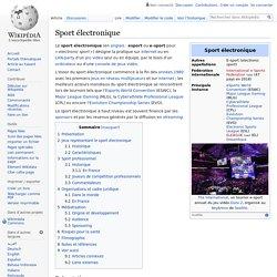 Sport électronique