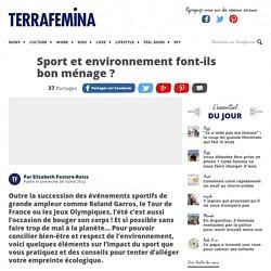 Sport et environnement font-ils bon ménage ?