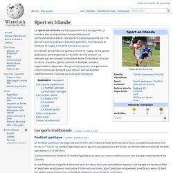 Sport en Irlande