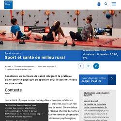 Sport et santé en milieu rural - Fondation de France