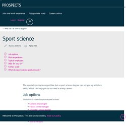 What can I do with a sport science degree?