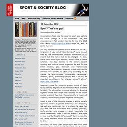 Sport and Society Blog