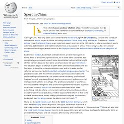 Sport in China