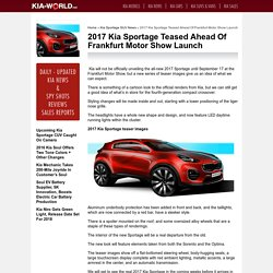 2017 Sportage on sale date revealed