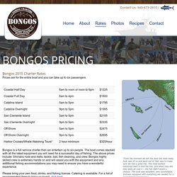 Bongos Sportfishing and Charters - Newport Beach Southern California