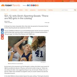 Girl, 12, points out lack of girls in Dick's Sporting Goods catalog - Parents