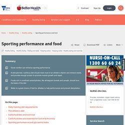 Sporting performance and food