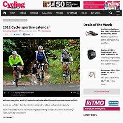 2012 Cyclo-sportive calendar