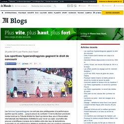 Les sportives hyperandrogynes gagnent le droit de concourir