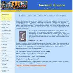 Sports and the Ancient Greece Olympics