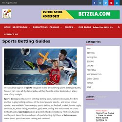 How to Bet, Sports, Betting Tips