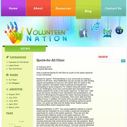 Sports-for-All Clinic - VolunteenNation
