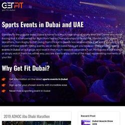 Sports Event In Dubai Uae