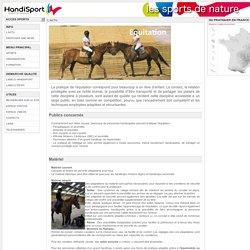 Sports de Nature Handisport - EQUITATION