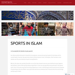 SPORTS IN ISLAM – Ummah Sports